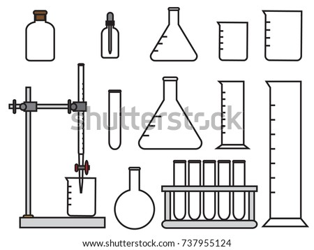 Laboratory Equipment Setconical Flaskround Flaskcylinderbeakerdroper