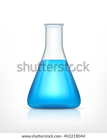 Laboratory flask. Vector icon. EPS10 - stock vector