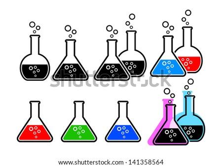 Laboratory glass - stock vector