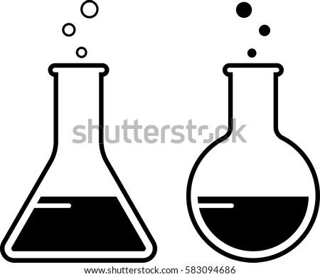 Laboratory Glass Beaker Icon Vector Illustration Stock ...