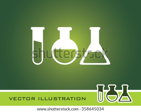 Laboratory Glass Icon. Eps-10.