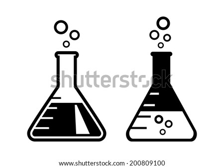 Laboratory glass on white background - stock vector