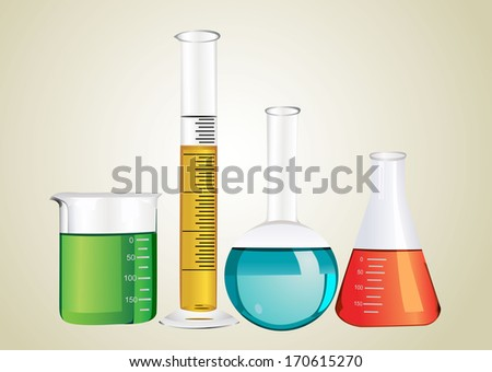 Laboratory glassware - stock vector