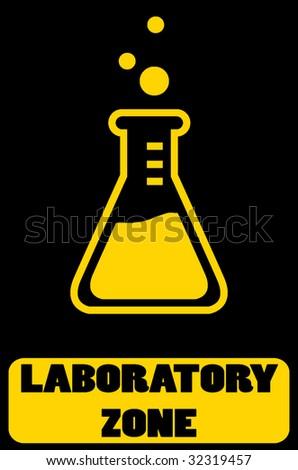 laboratory zone illustration - stock vector