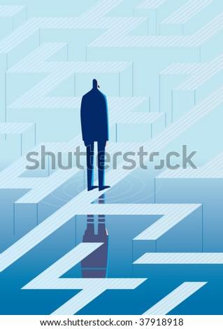 labyrinth - stock vector