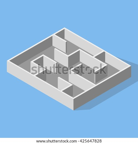 Labyrinth - stock vector