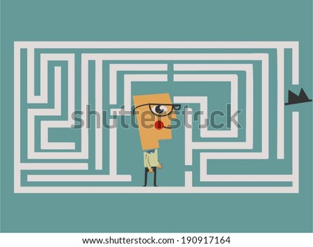 Labyrinth concept - stock vector