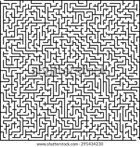 Labyrinth of high complexity - stock vector