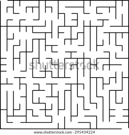 Labyrinth of low complexity - stock vector