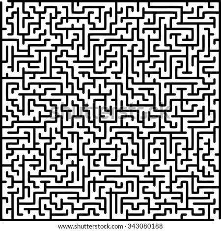 Labyrinth of medium complexity