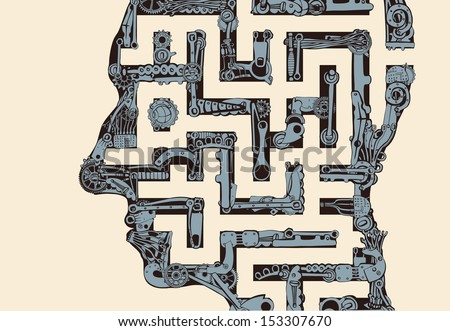 Labyrinth of the hidden meaning of science.