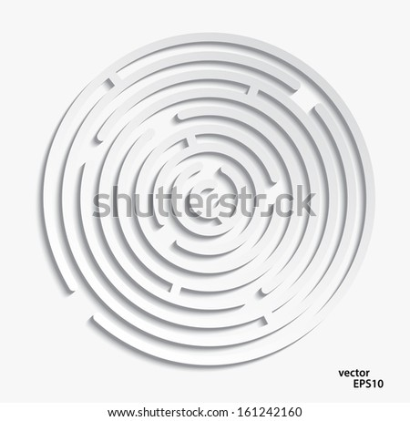 labyrinth  on a white background - stock vector