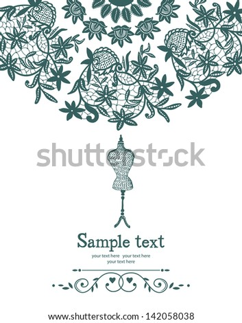 Lace and mannequin - stock vector