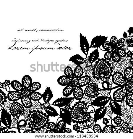 Lace background - stock vector