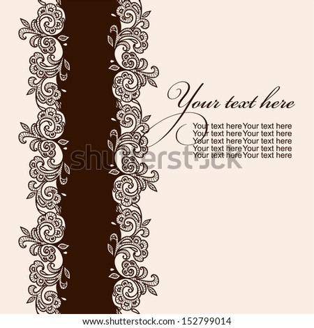 chocolate lace template - lace strip stock images royalty free images vectors