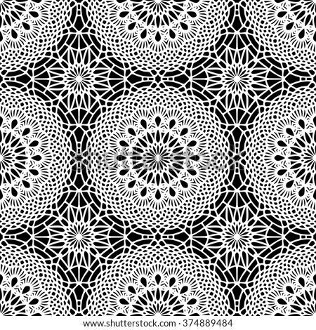 Lace / Doily seamless pattern, hand made cutout, wedding decor, design element, vector illustration - stock vector