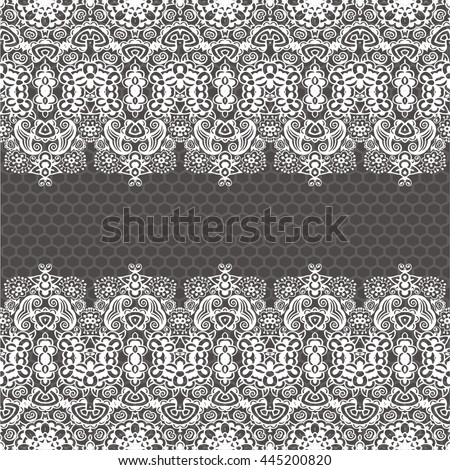 Lace flower vintage seamless retro damask design. Retro ornament can be used for wallpaper interior, cloth, scarf, bandana, pattern fills, web page background, surface textures, napkin - stock vector.