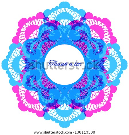 Lace frame. EPS 10 - stock vector