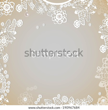 Lace frame. Vector - stock vector