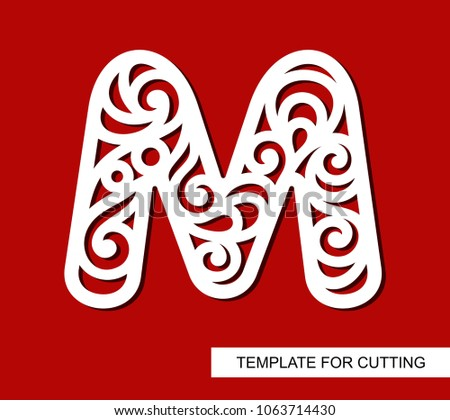 Lace letter m template laser cutting stock vector 1063714430 lace letter m template for laser cutting wood carving paper cut and printing spiritdancerdesigns Choice Image