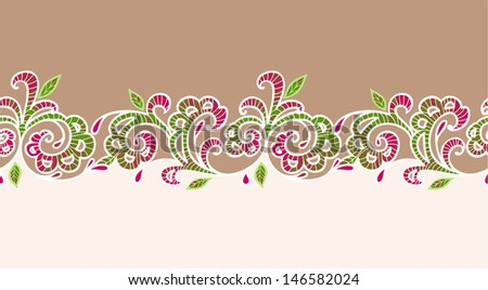 lace ornament on beige background