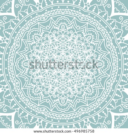 Lace pattern. Round ornament. Doily. Tender background. Boho.Vector art