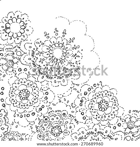 Lace Pattern Abstract Flowers Template Frame Stock Vector 270689960 ...