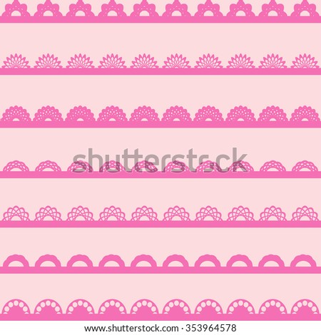 Lace ribbons. Can be used for use with backgrounds