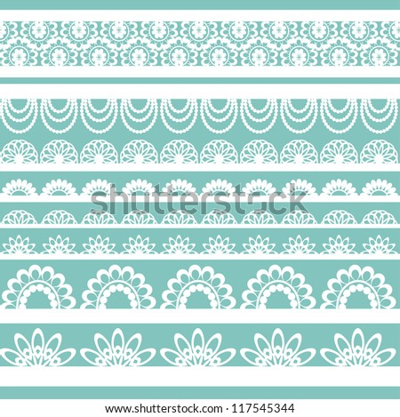 Lace ribbons. Can be used for use with backgrounds or scrap-booking.