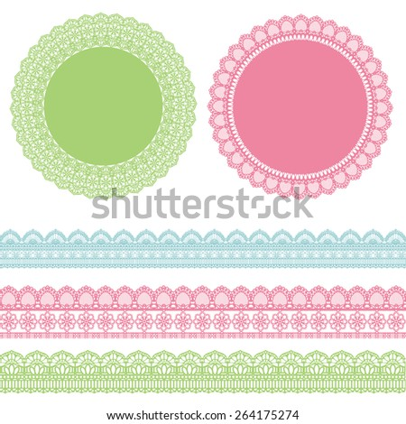 lace set  - stock vector