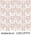 Lace vector fabric seamless  pattern with roses - stock vector