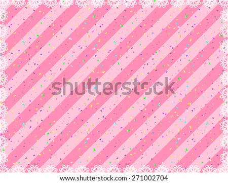 lace with stripes and confetti - stock vector