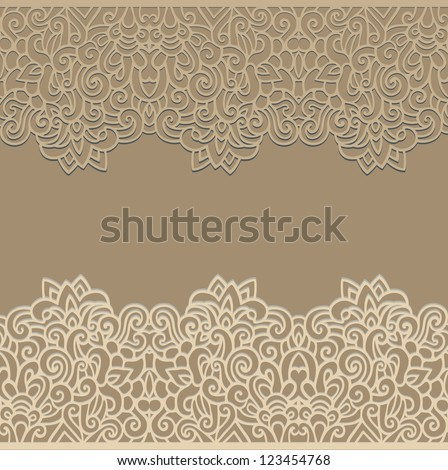 laced seamless border - stock vector