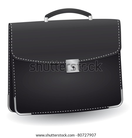 lack briefcase for the businessman. Vector illustration