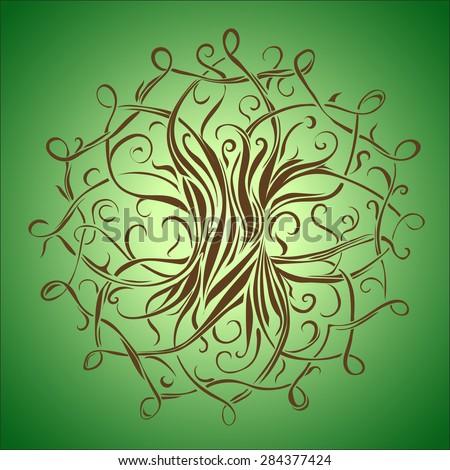 Laconic Tree of Life symbol mythology - stock vector