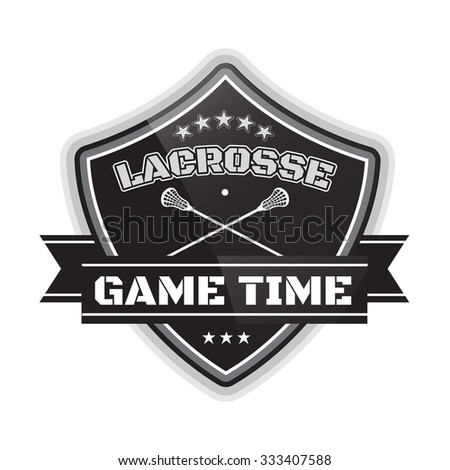 Lacrosse Shield - stock vector