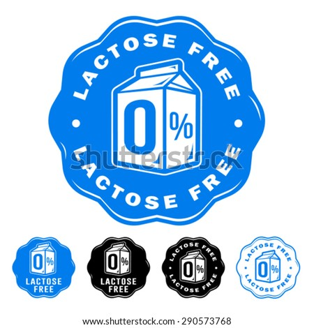 Lactose Free Icons - stock vector