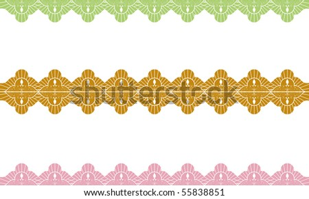 Lacy border 2 - stock vector