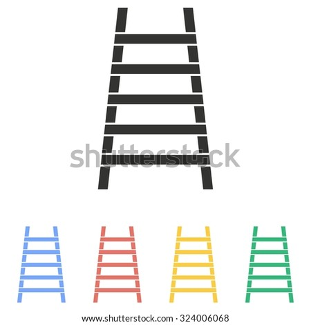 Ladder  icon  on white background. Vector illustration.