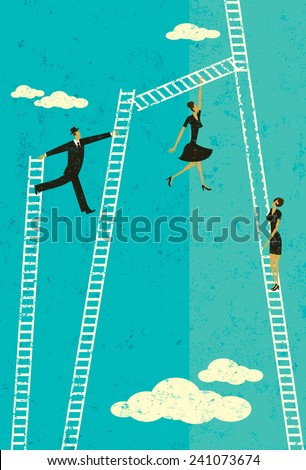 Ladder of Success - stock vector