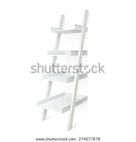 Ladder  shelves - stock vector