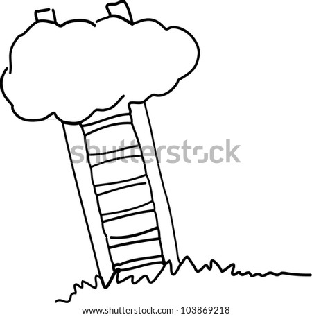 Ladder to heaven - stock vector