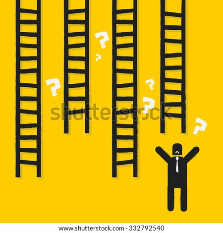 Ladder to success, business concept - stock vector