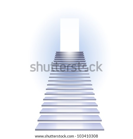 Ladder to success. Illustration on white background. - stock vector