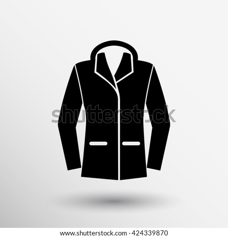ladies jacket icon symbol design coat logo. - stock vector