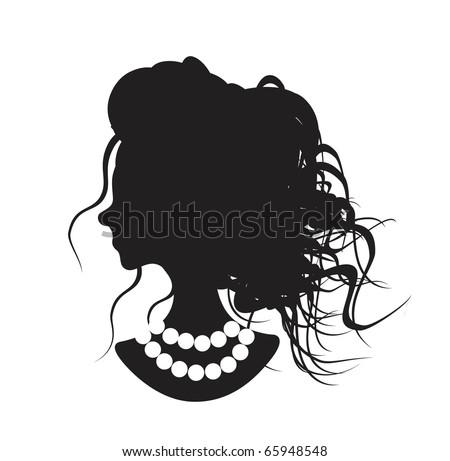ladies silhouette - stock vector