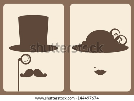 lady and gentleman sign - stock vector