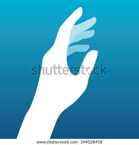 Lady hand silhouette vector - stock vector