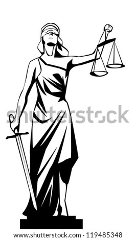 lady justice - stock vector