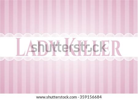 Lady Killer card, colorful, nice design - stock vector
